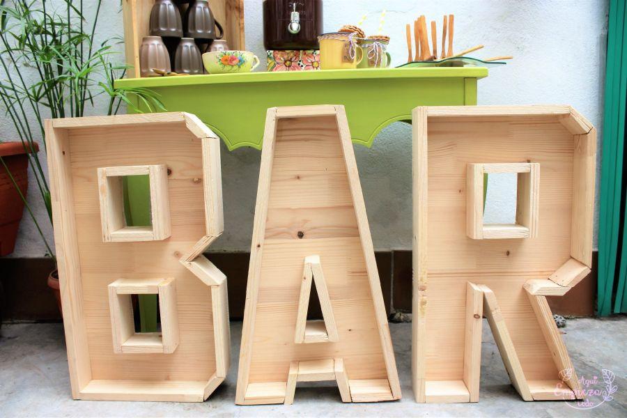 letras de madera bar valencia