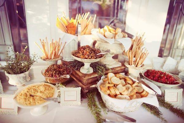 mesa de Apetitivos salados boda