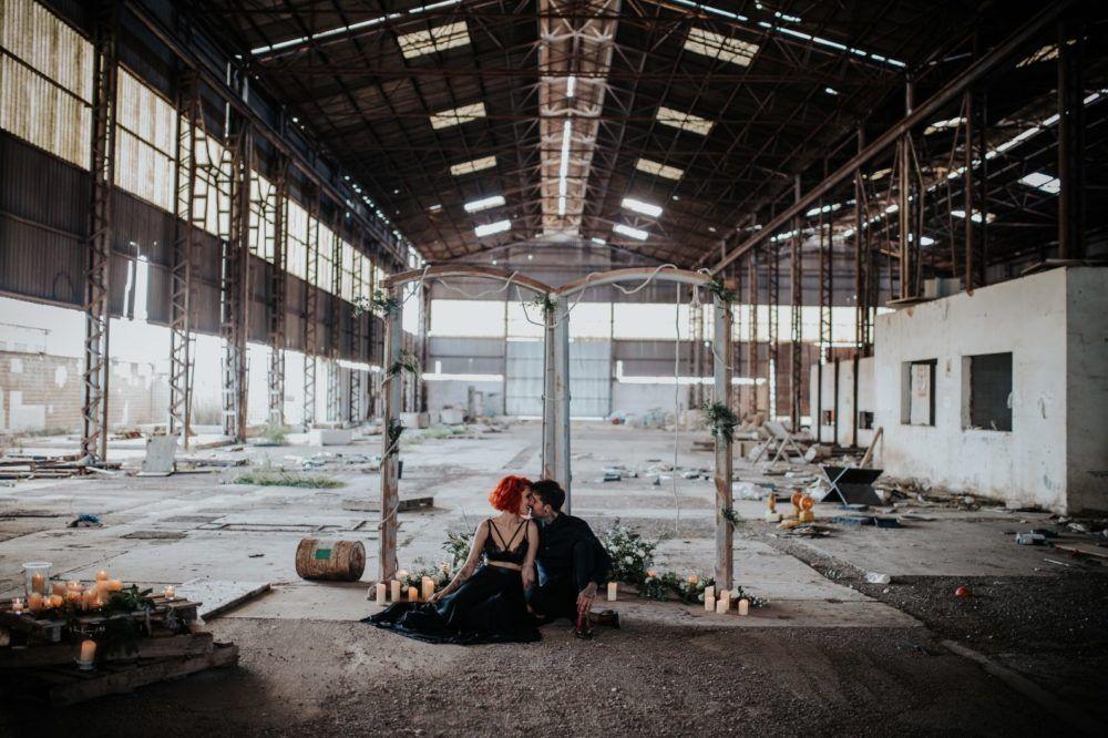 Boda en una fábrica abandonada