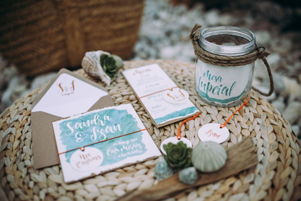 invitaciones de boda playa