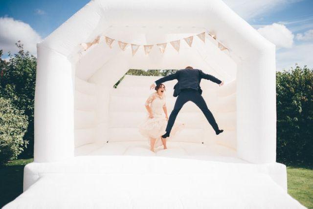 boda divertida castillo hinchable
