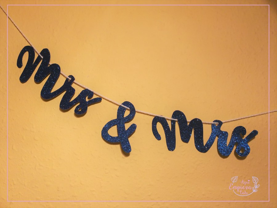 DIY boda Letreros Mr and Mrs