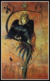 """Gamayun: The Prophet Bird"" by Viktor Vasnetsov (1897)."