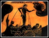 Odysseus and the Sirens. Attic Black Figure . 520 B.C . Antikensammlun, Berlin, Germany.