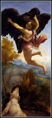 """Ganymede Abducted by the Eagle"" by Antonio da Correggio (1532)."
