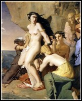 """Andromeda Chained to the Rock by the Nereids"" by Théodore Chassériau. 1840."