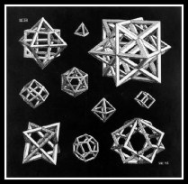 """Study For Stars"" by M. C. Escher. 1948."