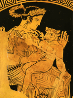 Pasiphae, the Mother of the Minotaur.