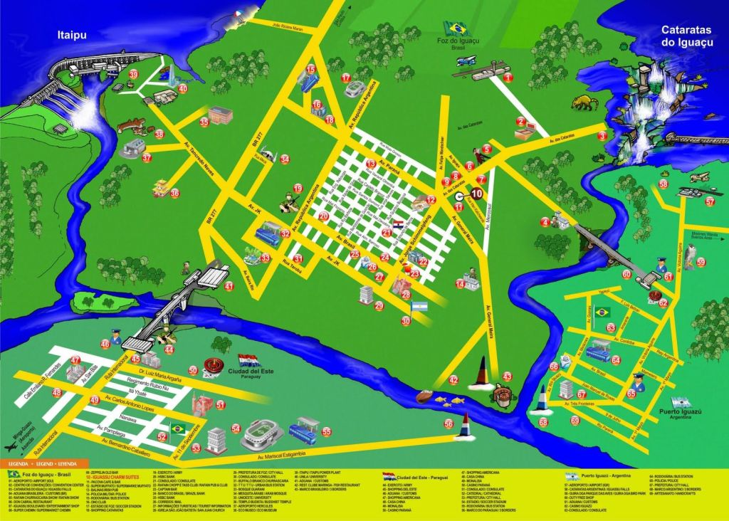 cataratas do iguacu_mapa