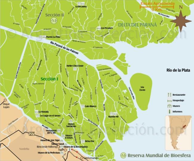 mapa do delta do tigre
