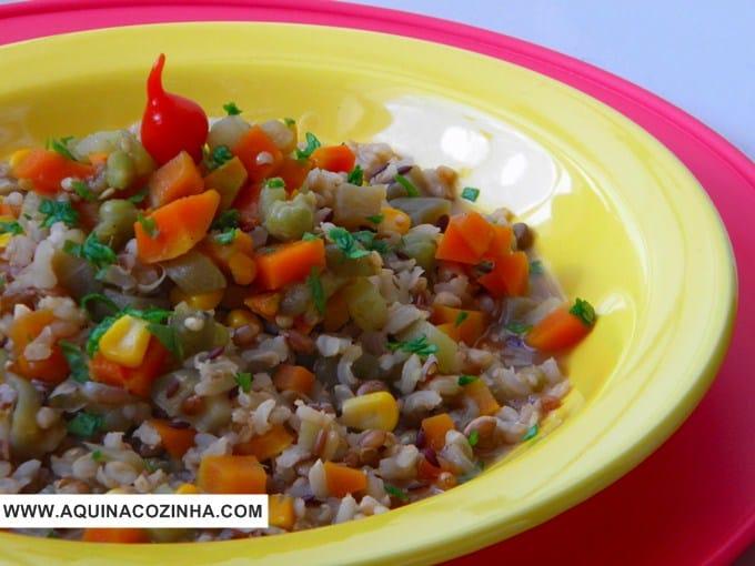 Risoto de Arroz 7 Grãos com Legumes
