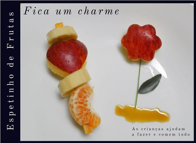 espetinho de frutas criancas