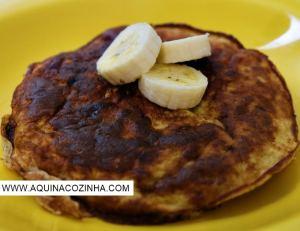 Panqueca 2 ingredientes, sem glúten, low carb
