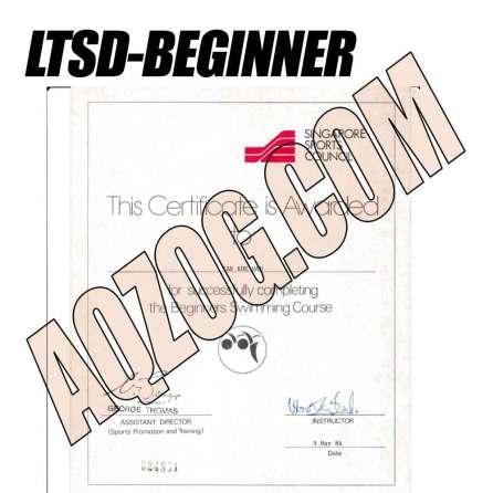 Beginner Learn to Swim Certificate