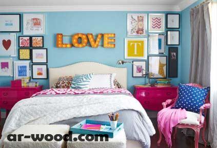 تزيين غرفة النوم باشياء بسيطة للبنات