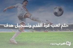تفسير حلم لعب كرة القدم وتسجيل هدف
