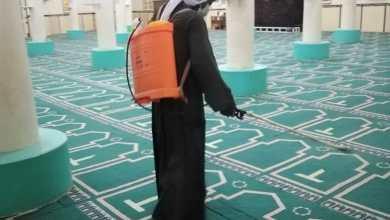 صورة بالصور : مديرية أوقاف البحر الأحمر تواصل حملتها لنظافة وتعقيم المساجد التابعة لها