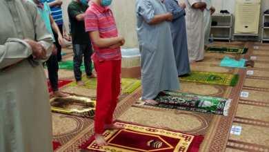 صورة بالصور :  رواد المساجد بأوقاف البحيرة في صلاة التراويح  يلتزمون بتعليمات وزارة الأوقاف