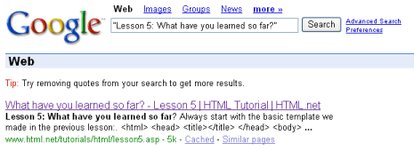 العنوان يعرض في غوغل