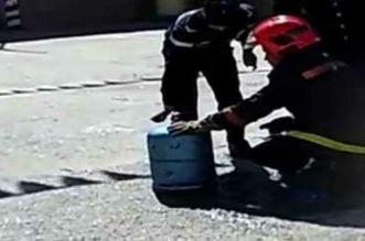 شخص يضرم النار في قنينات الغاز بالبيضاء
