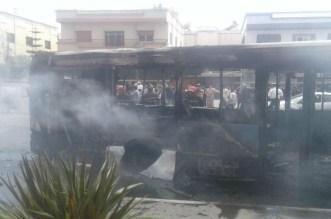 اندلاع حريق مهول بحافلة لنقل المدينة بالبيضاء