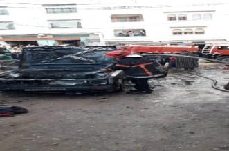بالفيديو.. حريق يلتهم سيارة بشفشاون