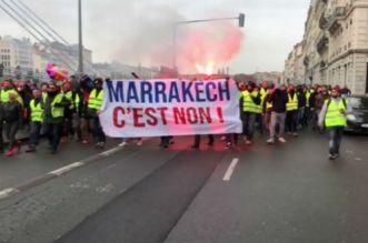 """بالفيديو – احتجاجات فرنسا.. لماذا رفع أصحاب """"السترات الصفراء"""" شعارات ضد مراكش؟"""