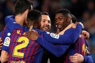 """بالفيديو.. برشلونة يقطع خطوة جديدة نحو الاحتفاظ بلقب """"الليغا"""""""