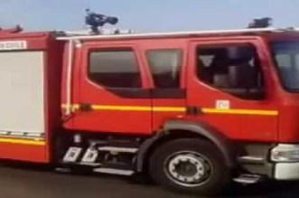 بالصور.. النيران تلتهم حافلة لنقل المسافرين بأكادير