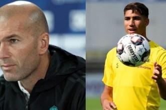 زيدان يتحدث عن إمكانية إعادة حكيمي لريال مدريد