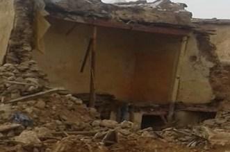 نجاة أسرة من موت محقق بوزان بعد انهيار منزلها القصديري