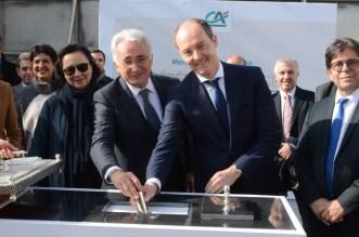 """مصرف المغرب يضع الحجر الأساس لمقره الرئيسي الجديد """" Les Arènes"""" -فيديو"""
