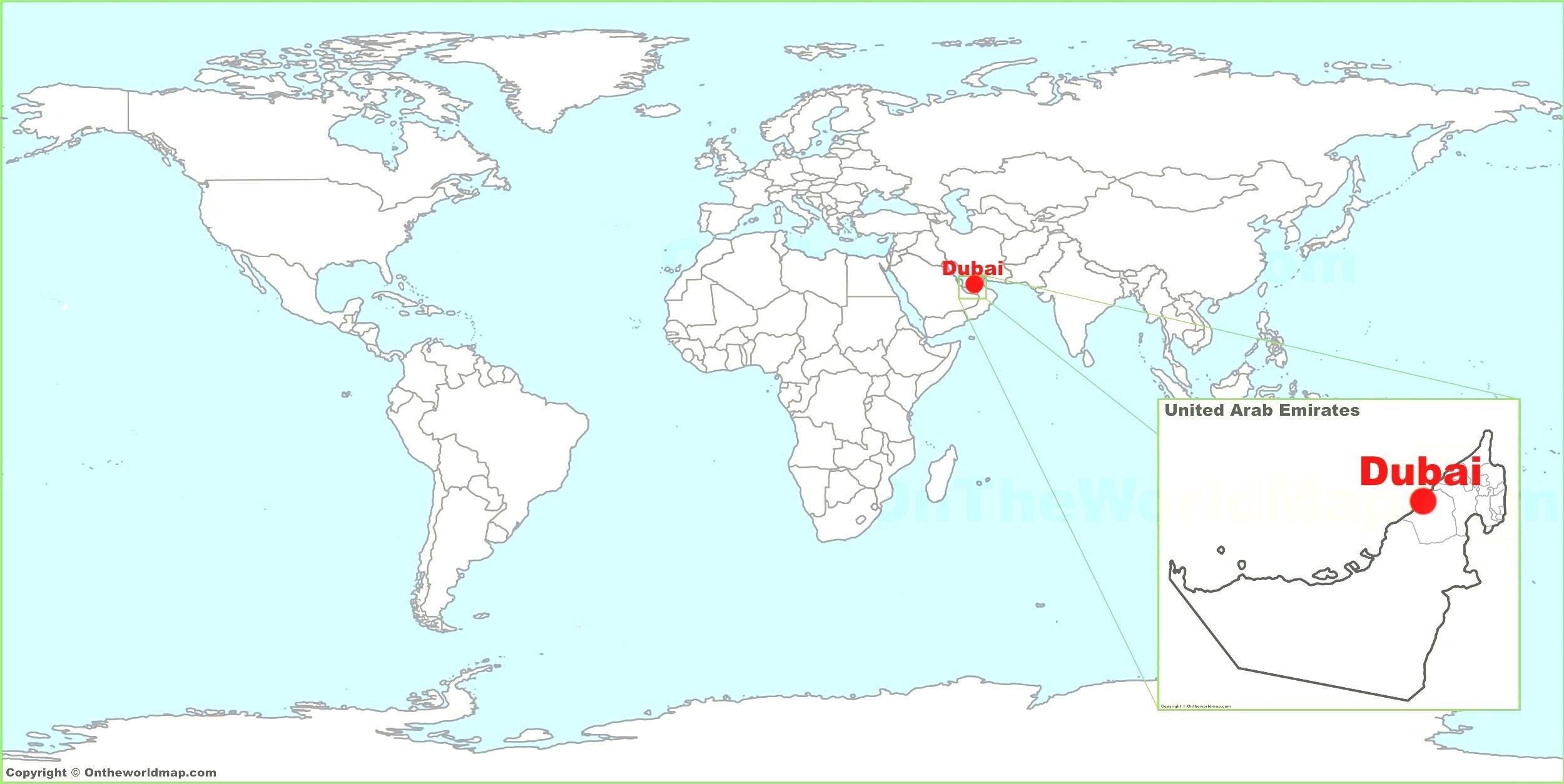 الامارات العربية المتحدة الخريطة