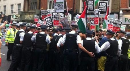 مظاهرة أمام السفارة الإسرائيلية في لندن