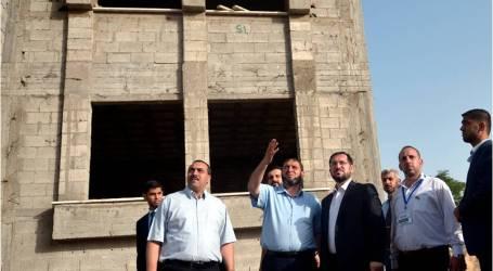 """وفد من """"وقف الديانة التركي"""" يتفقد عملية إعمار المساجد المدمرة في غزة"""