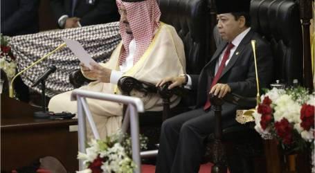 العاهل السعودي الملك سلمان يلقي خطابا أمام مجلس النواب