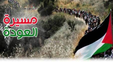 إصابة أكثر من 100 فلسطيني في مسيرة العودة على حدود غزة