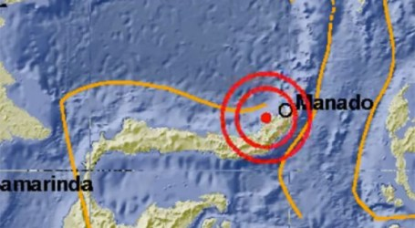 زلزال بلغت قوته 5 درجات يهز ميلونجوان شمال سولاويزي