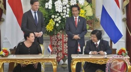 الرئيس جوكوي يستقبل رئيس الوزراء الهولندي في قصر بوجور