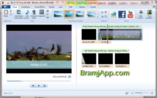 برنامج قص الفيديو ودمجه بسهولة برنامج موفي ميكر Movie Maker