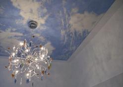 Die Illusion ist perfekt: Ein Himmel an der Decke!