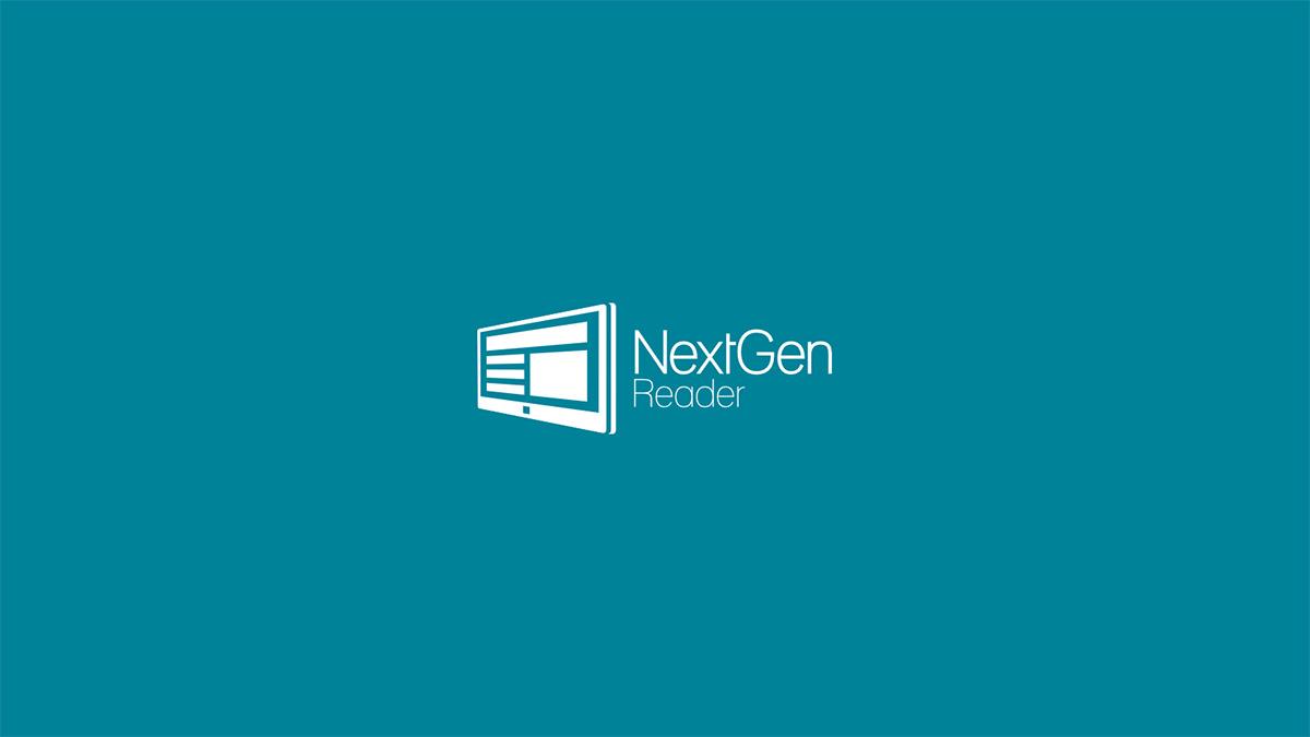 Nextgen Reader 起動画面