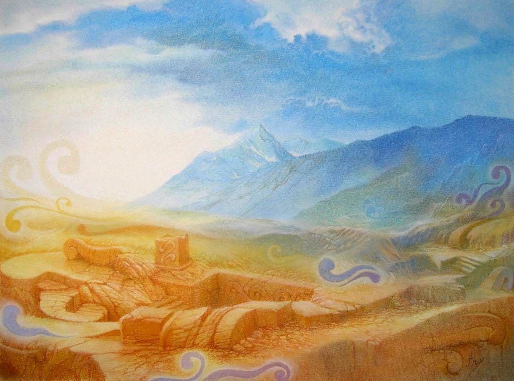 Révélation - Pastels sur papier 18cm x 24cm