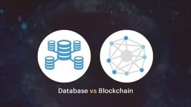 الفرق بين البلوكشين و قاعدة البيانات