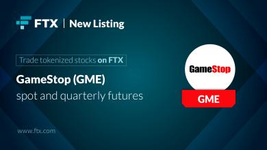 """يمكن الآن تداول العقود الآجلة لـ """"GameStop"""" على منصة تداول العملات الرقمية FTX"""