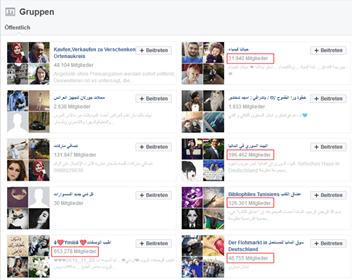 قروبات عربية مشهورة تحت مراقبة حزب البديل Afd