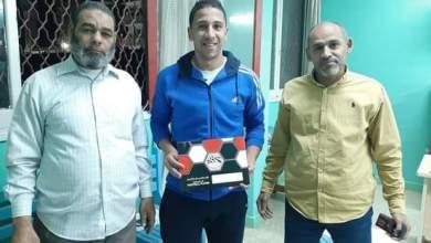 صورة رسميا نادي أخميم يتعاقد مع اللوجي حارس المراغة