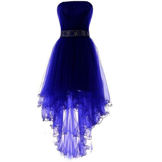 فستان سوارية ازرق قصير للمناسات الخاصة