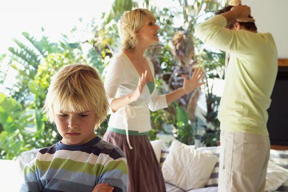 اظهار الغضب امام الاطفال