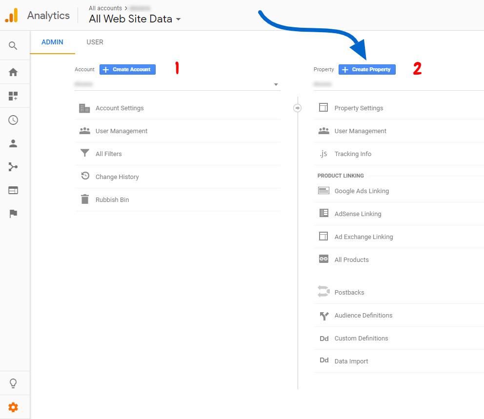إضافة موقع جديد الى تحليلات جوجل